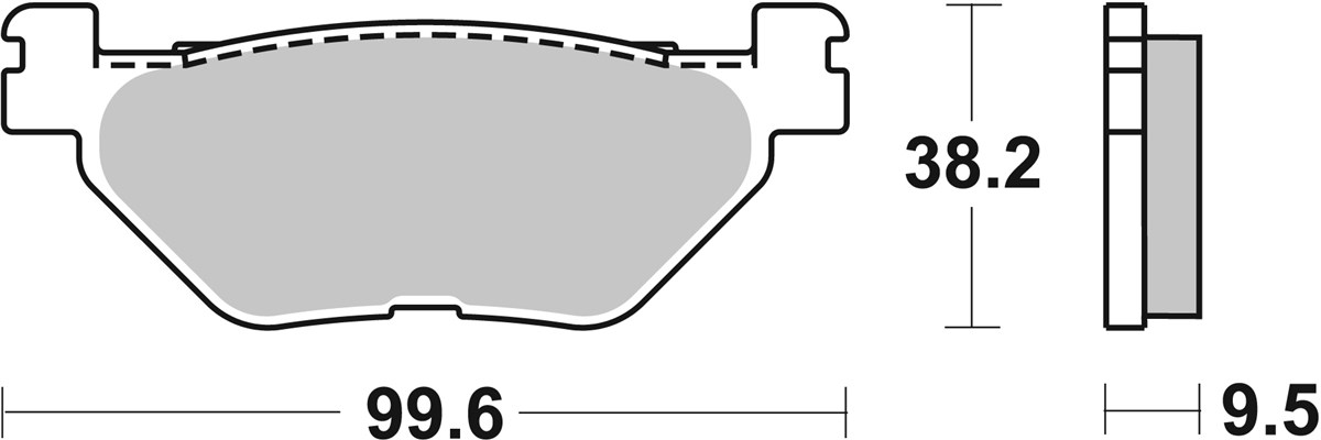 Front brake pads organic Honda SH  Polini - scooter part